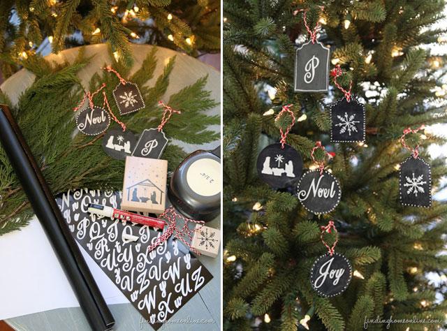 DIY Chalkboard Ornaments