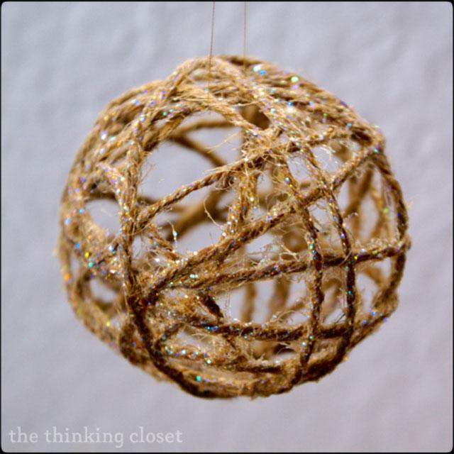 DIY Twine Ball Ornament
